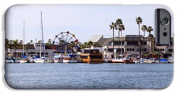 Newport Photographs iPhone Cases - Newport Beach Balboa Fun Zone iPhone Case by Paul Velgos