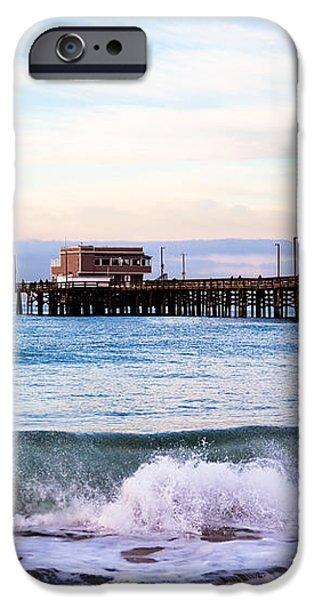 Newport Beach CA Pier at Sunrise iPhone Case by Paul Velgos
