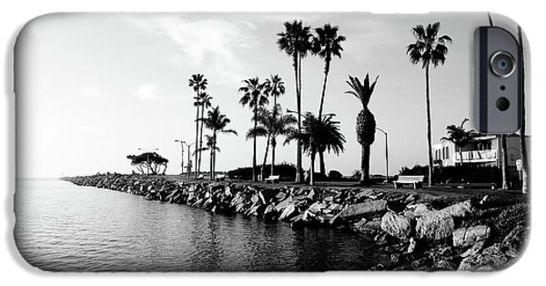 Pacific Ocean iPhone Cases - Newport Beach Jetty iPhone Case by Paul Velgos