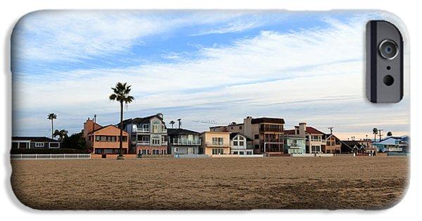 Balboa iPhone Cases - Newport Beach Oceanfront Houses iPhone Case by Paul Velgos