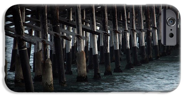 Ply iPhone Cases - Newport Beach Pier Close Up iPhone Case by Mariola Bitner