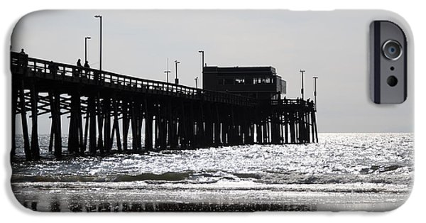 California Beach iPhone Cases - Newport Pier iPhone Case by Paul Velgos