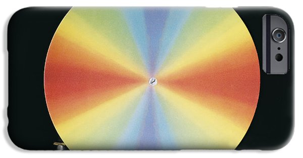 Disc iPhone Cases - Newtons Colour Disc iPhone Case by Andrew Lambert Photography