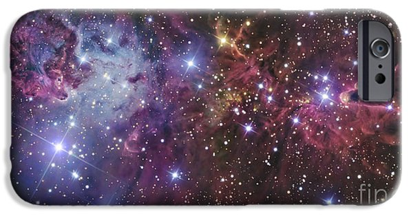 Starfield iPhone Cases - Ngc 2264 iPhone Case by R Jay GaBany