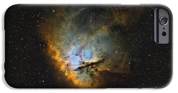 Pacman iPhone Cases - Ngc 281, The Pacman Nebula iPhone Case by Rolf Geissinger