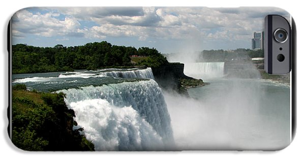 Artists4god iPhone Cases - Niagara Falls American and Canadian Horseshoe Falls iPhone Case by Rose Santuci-Sofranko