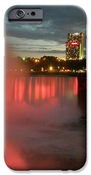 Niagara Falls at Night iPhone Case by Mark J Seefeldt