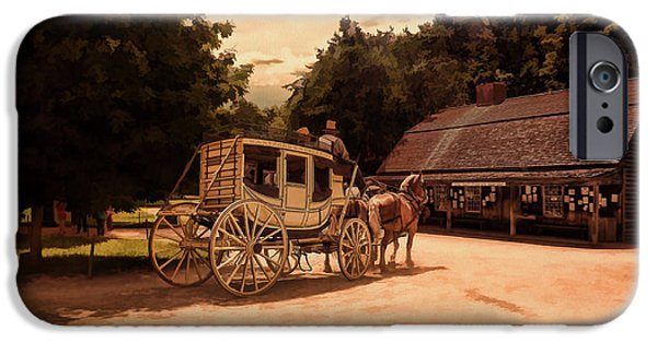 Horse And Buggy Photographs iPhone Cases - Nice And Easy iPhone Case by Lourry Legarde