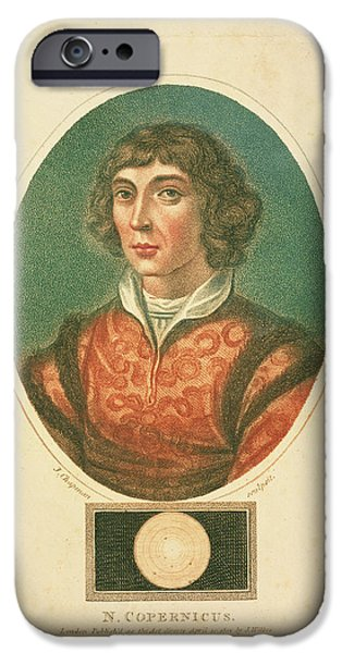 Copernicus iPhone Cases - Nicolaus Copernicus iPhone Case by