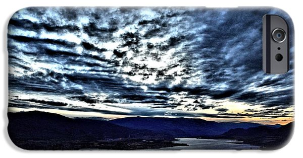 Snow iPhone Cases - Nighfall in the South Okanagan Valley iPhone Case by Don Mann