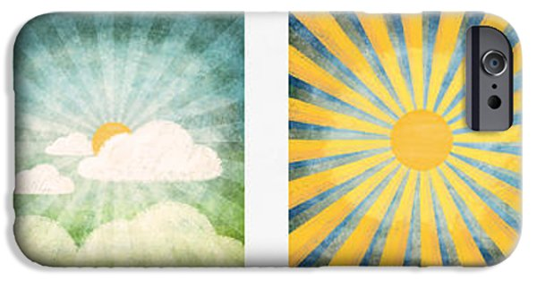 Clouds Pastels iPhone Cases - Night And Day  iPhone Case by Setsiri Silapasuwanchai