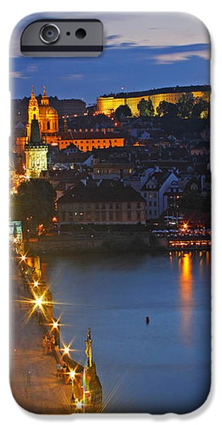 Night Lights Of Charles Bridge Or iPhone Case by Trish Punch
