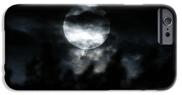 Super Moon iPhone Cases - Night Sky 2 iPhone Case by Ernie Echols
