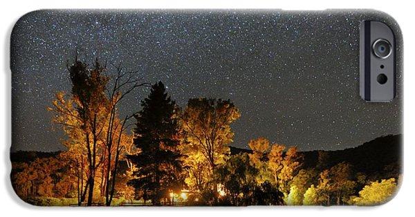 Moonlit Night Photographs iPhone Cases - Night Sky, Australia iPhone Case by Alex Cherney, Terrastro.com