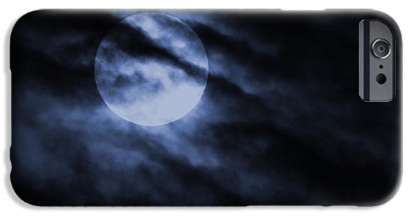 Super Moon iPhone Cases - Night Sky iPhone Case by Ernie Echols