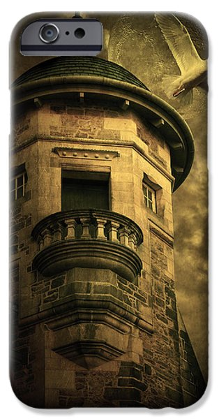 Eerie Mixed Media iPhone Cases - Night Tower iPhone Case by Svetlana Sewell