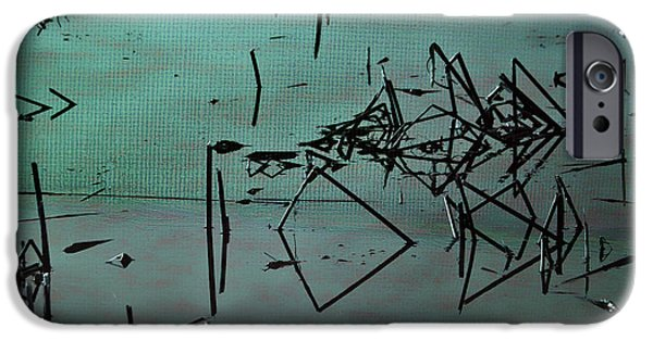 Waterscape Mixed Media iPhone Cases - Nightfall Over the Wetlands iPhone Case by Bonnie Bruno