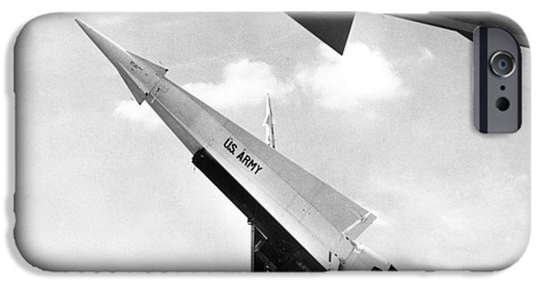 Nike iPhone Cases - NIKE MISSILE, c1959 iPhone Case by Granger