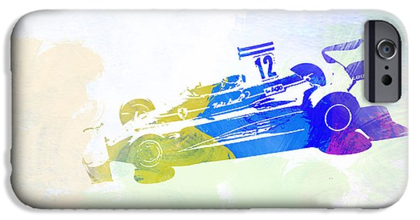 Laguna Seca iPhone Cases - Niki Lauda iPhone Case by Naxart Studio