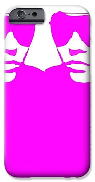 Niki Mirror Pink iPhone Case by Naxart Studio