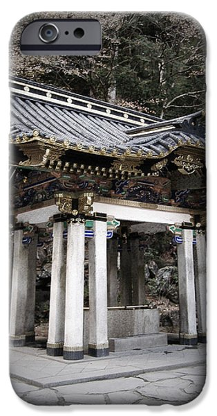 Pagoda iPhone Cases - Nikko Architecture iPhone Case by Naxart Studio