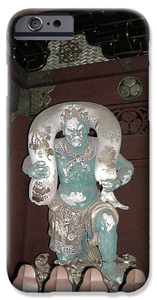 Pathway iPhone Cases - Nikko Green Figure iPhone Case by Naxart Studio