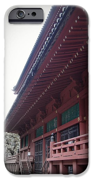 History iPhone Cases - Nikko Monastery iPhone Case by Naxart Studio
