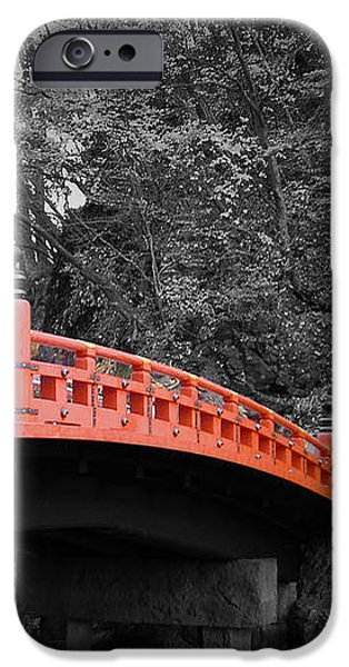 Nikko Red Bridge iPhone Case by Naxart Studio