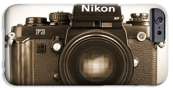 Looking Digital Art iPhone Cases - Nikon F3 HP iPhone Case by Mike McGlothlen