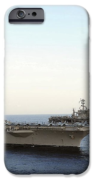 Nimitz-class Aircraft Carriers Transit iPhone Case by Stocktrek Images