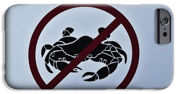 Crabbing iPhone Cases - No Crabbing iPhone Case by Bill Cannon