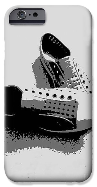Tennis Shoes iPhone Cases - No Laces iPhone Case by Cheryl Young