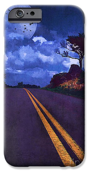 Asphalt iPhone Cases - No Passing iPhone Case by Darren Fisher