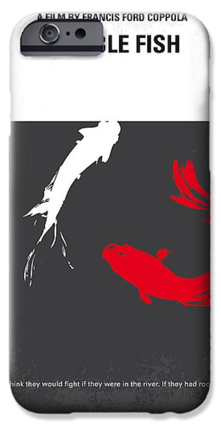 Fight Digital iPhone Cases - No073 My Rumble fish minimal movie poster iPhone Case by Chungkong Art