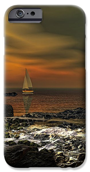 Nocturnal Tranquility iPhone Case by Lourry Legarde