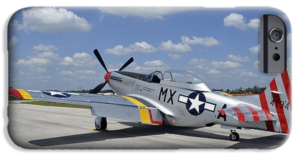 North American Aviation iPhone Cases - North American F-51d Mustang iPhone Case by Stocktrek Images