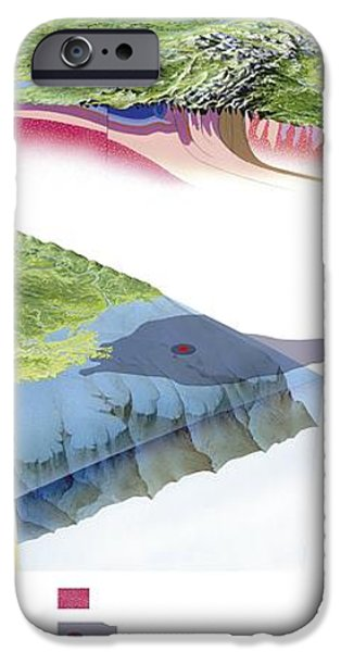 North American Geology And Oil Slick iPhone Case by Gary Hincks