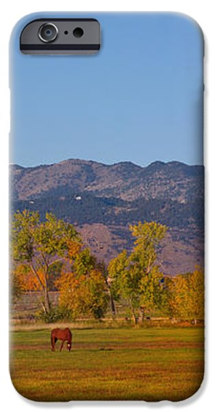 North Boulder County Colorado Front Range Panorama With Horses iPhone Case by James BO  Insogna
