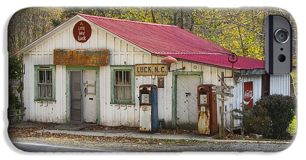 Country Store iPhone Cases - North Carolina Country Store and Gas Station iPhone Case by Bill Swindaman