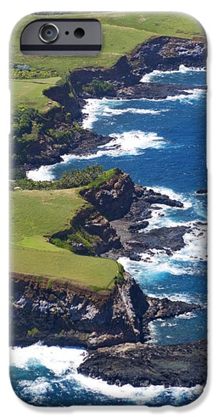 Turbulent Skies iPhone Cases - North Coast of Maui iPhone Case by Ron Dahlquist - Printscapes