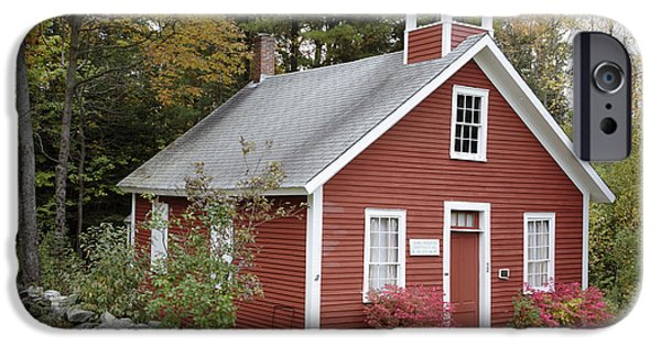 Old School Houses iPhone Cases - North District School House - Dorchester NH USA iPhone Case by Erin Paul Donovan