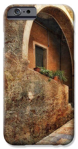 Computer Art Pyrography iPhone Cases - North Italy 3 iPhone Case by Mauro Celotti
