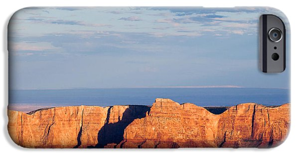 Grand Canyon Photographs iPhone Cases - North Rim at Sunset iPhone Case by Dave Bowman
