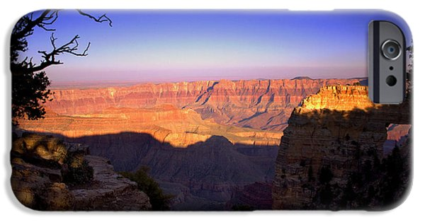 Grand Canyon Digital Art iPhone Cases - North Rim Sunset iPhone Case by Ellen Heaverlo