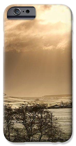 North Yorkshire, England Sun Shining iPhone Case by John Short