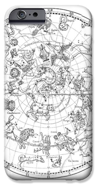 Northern Celestial Map iPhone Case by Science, Industry & Business Librarynew York Public Library