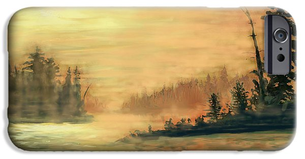 Sudbury River iPhone Cases - Northern Ontario Summer Morning iPhone Case by Ian  MacDonald