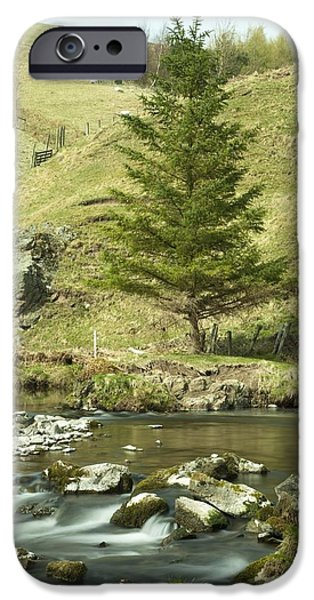 Design Pics - iPhone Cases - Northumberland, England A River Flowing iPhone Case by John Short