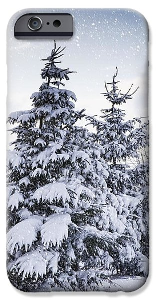 Northumberland, England Snow-covered iPhone Case by John Short