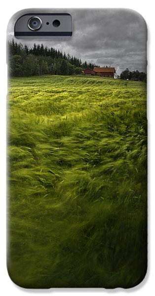 Landscape In Norway iPhone Cases - Norwegian Wave iPhone Case by Andy Astbury